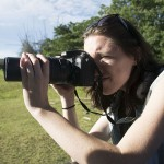 Kelly Zegers pulls out a zoom lens to get shots of elephants and deer in Nagarhole National Park. (Photo: Diana Lopez)