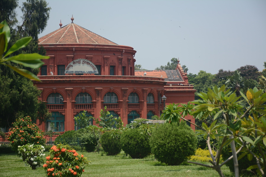 The State Central Library is housed in the Seshadru Iyer Memorial Building Cubbon Park. It was renovated in 2007