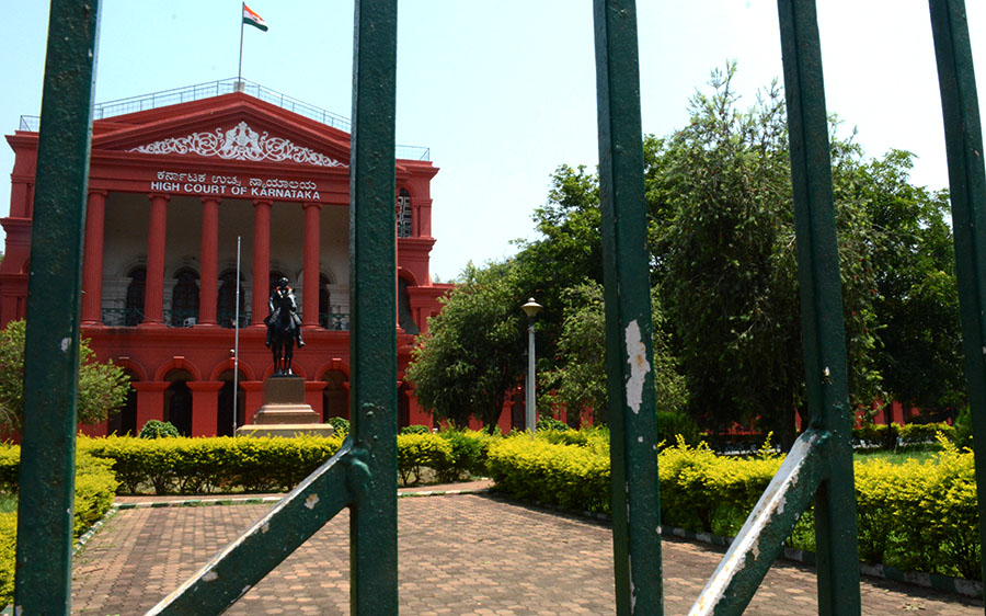 Karnataka State High Court from inside Cubbon Park. (Photo: Alicia Bermudez)