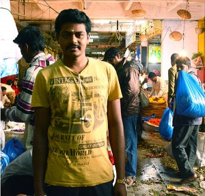 Mohan, a wholesale vendor at City Market. (Photo credit: Alicia Bermudez.)