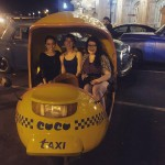 A ride in a Coco Taxi to celebrate our last night in Cuba. Photo credit Kayla Shults.