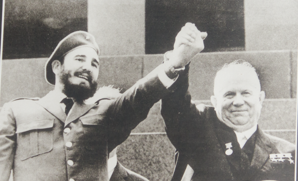 May 1963: Then president Fidel Castro and Soviet leader Nikita Khrushchev in Moscow. Photo: AFP