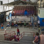 An overview of Rafael Trejo Gym, where boxing champions are forged. Photo by Kayla Shults.