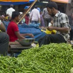 Among the flower merchants is the occasional seller of vegetables--in this case, hot peppers.  (Photo: Rick Ricioppo)