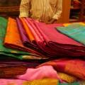 Fabrics for sale on Commercial Street, Bangalore's shopping hub (Photo: Krysten Massa)
