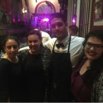 Some of the girls with our waiter, Ariel. Photo by Briceyda Landaverde.