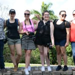 Julio, Emily, Ivana, Kayla, Abby and Alexa pose atop Ernest Hemingway's property. Photo by Janelle Clausen.