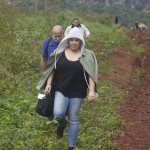 Abby was not too happy on her hike back down in Vinales. Photo by Rick Ricioppo.